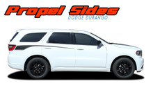 PROPEL SIDES : 2011-2020 2021 Dodge Durango Side Door Stripes Decals Vinyl Graphics Kit (VGP-5522)