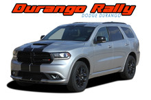 RALLY : 2014-2020 2021 Dodge Durango Racing Stripes Hood Decals Vinyl Graphics Kit (VGP-5544)