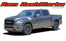 RAM HASH MARKS : 2019-2020 Dodge Ram Hood Hash Marks Stripes Decals Vinyl Graphics Kit (VGP-5678)