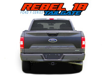REBEL TAILGATE : 2018-2019 Ford F-150 Tailgate Blackout Vinyl Graphic Decal Stripe Kit (VGP-5791)