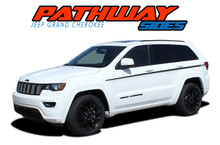 PATHWAY SIDES : 2011-2019 2020 2021 Jeep Grand Cherokee Upper Body Line Accent Vinyl Graphics Decal Stripe Kit (VGP-5843)