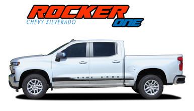 ROCKER ONE : 2019 2020 Chevy Silverado Stripes Lower Door Decals Rocker Panel Vinyl Graphic Kit (VGP-5898)