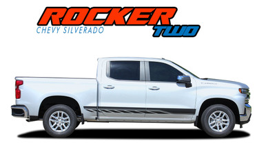 ROCKER TWO : 2019 2020 2021 Chevy Silverado Stripes Lower Door Decals Rocker Panel Vinyl Graphic Kit (VGP-5900)