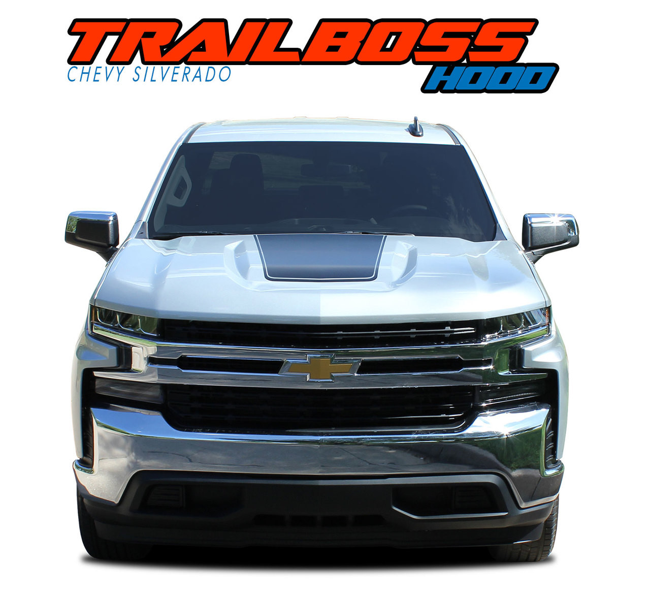 T boss hood 2019 chevy silverado hood decals trail hood stripe vinyl graphic kit vgp 5895