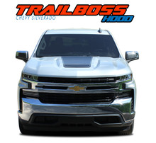 T-BOSS HOOD : 2019 2020 2021 Chevy Silverado Hood Decals Trail Hood Stripe Vinyl Graphic Kit (VGP-5895)
