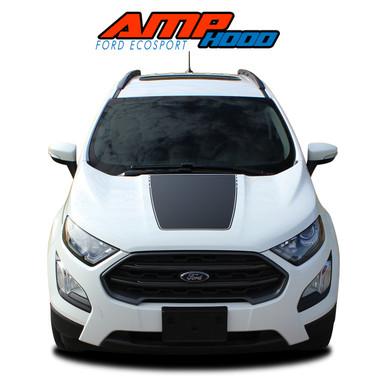 AMP HOOD : 2013 2014 2015 2016 2017 2018 2019 2020 Ford EcoSport Center Hood Vinyl Graphics Decal Stripe Kit