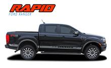 RAPID ROCKER : 2019 Ford Ranger Rocker Panel Door Stripes Body Vinyl Graphics Decal Kit (VGP-6122)