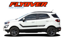 FLYOUT : 2013 2014 2015 2016 2017 2018 2019 Ford EcoSport Door Stripes and Hood Vinyl Graphics Decal Kit