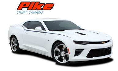 PIKE : 2019 2020 2021 Chevy Camaro Upper Door to Fender Accent Vinyl Graphics Decals Kit SS RS V6 (VGP-3961)