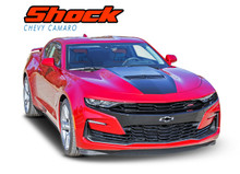 SHOCK : 2019 2020 2021 Chevy Camaro Center Stinger Hood Stripe Decals Vinyl Graphics Kit