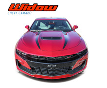WIDOW : 2019 2020 Chevy Camaro Spider Stripes Hood Spear Decals Vinyl Graphics Kit