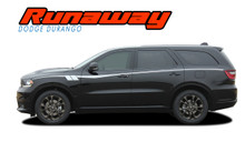 RUNAWAY : 2011-2019 Dodge Durango Side Door Stripes Decals Vinyl Graphics Kit (VGP-6075)