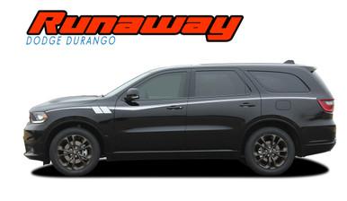 RUNAWAY : 2011-2020 2021 Dodge Durango Side Door Stripes Decals Vinyl Graphics Kit (VGP-6075)