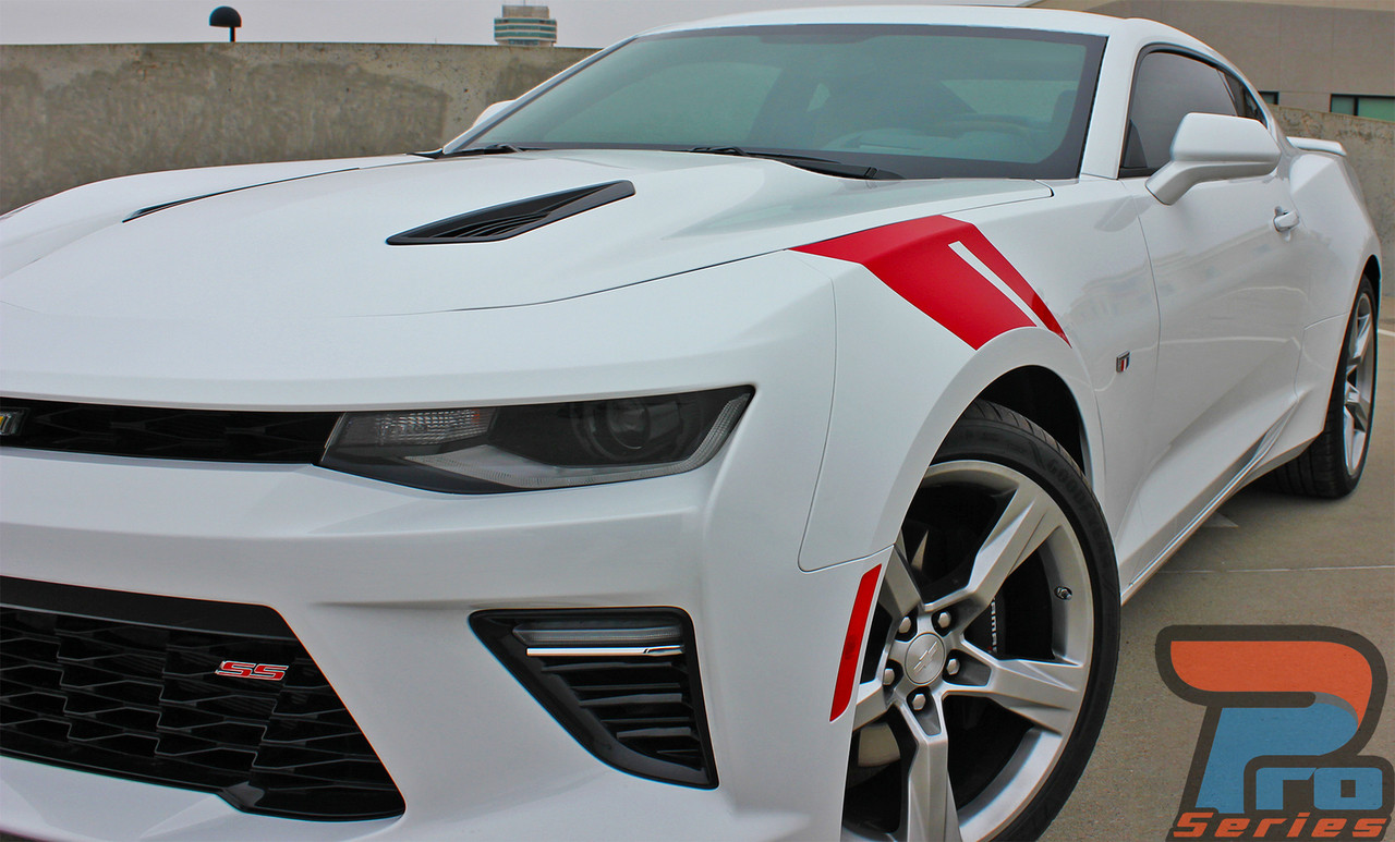 2016 2017 2018 Chevy Camaro Hash Marks Timing Stripes RS SS Decals Kit
