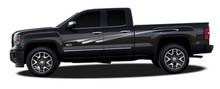 TSUNAMI : Automotive Vinyl Graphics - Universal Fit Decal Stripes Kit - Pictured with CHEVY SILVERADO and TOYOTA TACOMA (ILL-419)