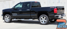 Chevy Silverado Side Matte Black Stripes 3M SHADOW 2013-2018