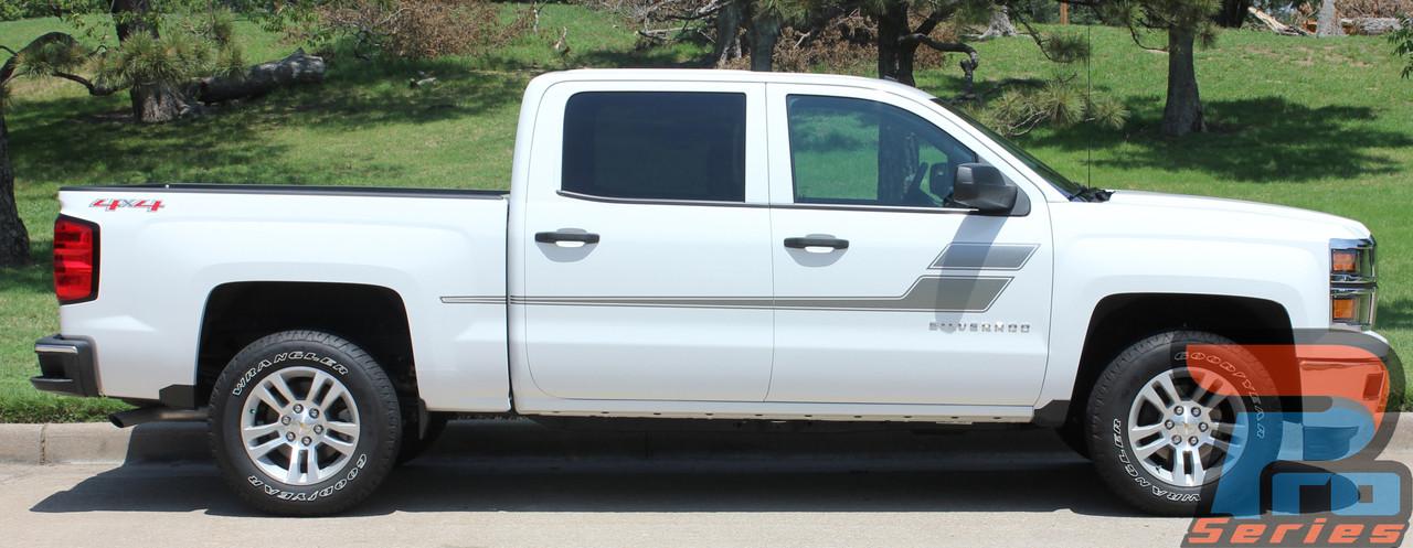 SPEED XL Vinyl Graphics Side Door Body Line Accent Stripe Decal Chevy Colorado