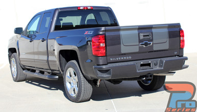 CHASE RALLY | Chevy Silverado SILVER Racing Stripes 3M 2016-2018