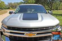 2019 2020 2021 Chevy Silverado Hood Stripe Graphics T-BOSS HOOD DECALS