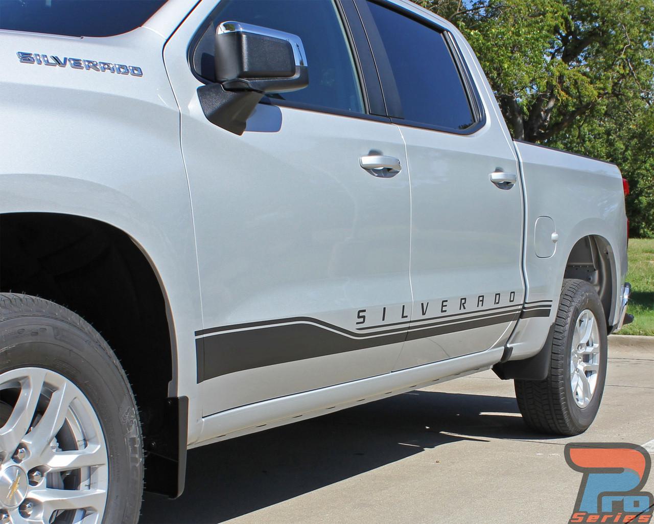 NEW! 2019 Chevy Silverado Side Graphics SILVERADO ROCKER 1