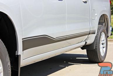 2019 2020 2021 Chevy Silverado Side Graphics SILVERADO ROCKER 1