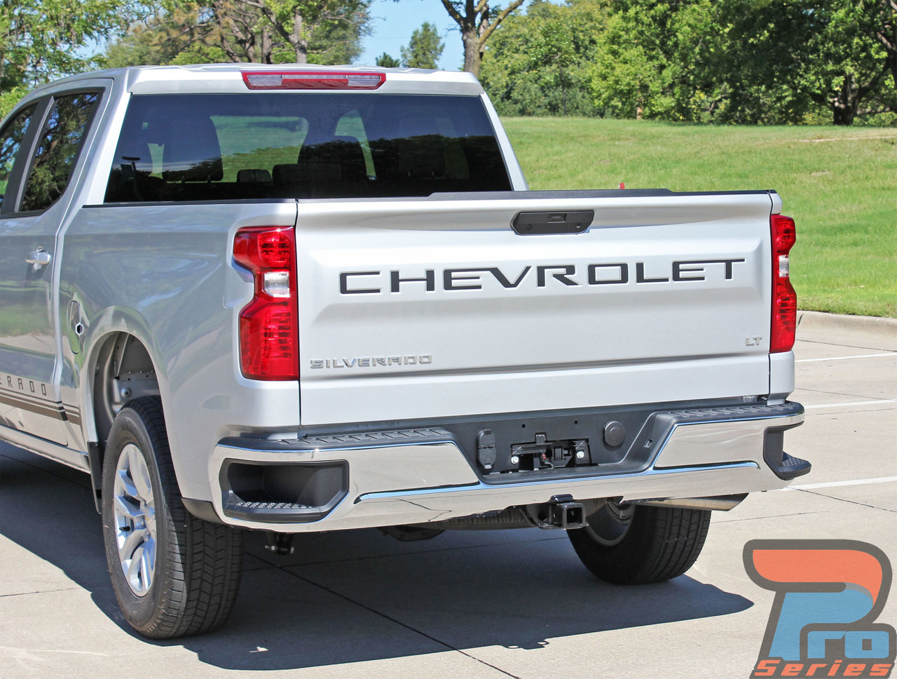 2020 2019 Chevy Silverado CHEVROLET Tailgate Letters Decals