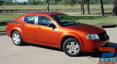 Side and Hood Stripes For Dodge Avenger AVENGED 2008-2013 2014