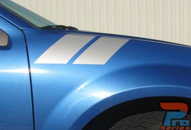 Dodge Avenger Vinyl Graphics DOUBLE BAR 3M 2008-2013 2014