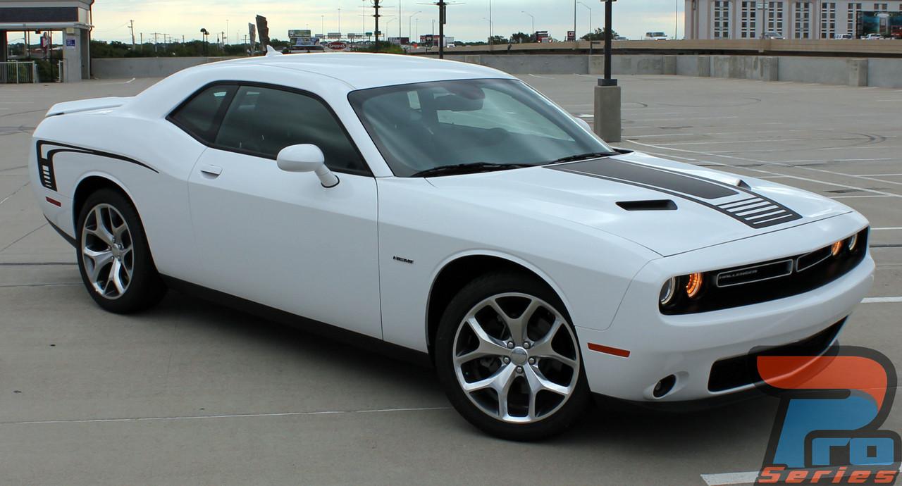 Dodge Challenger Custom Hood Decals Cuda Strobe Hood 2008 2019 2020 2021