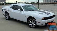 Dodge Challenger Custom Hood Decals CUDA STROBE HOOD 2008-2021