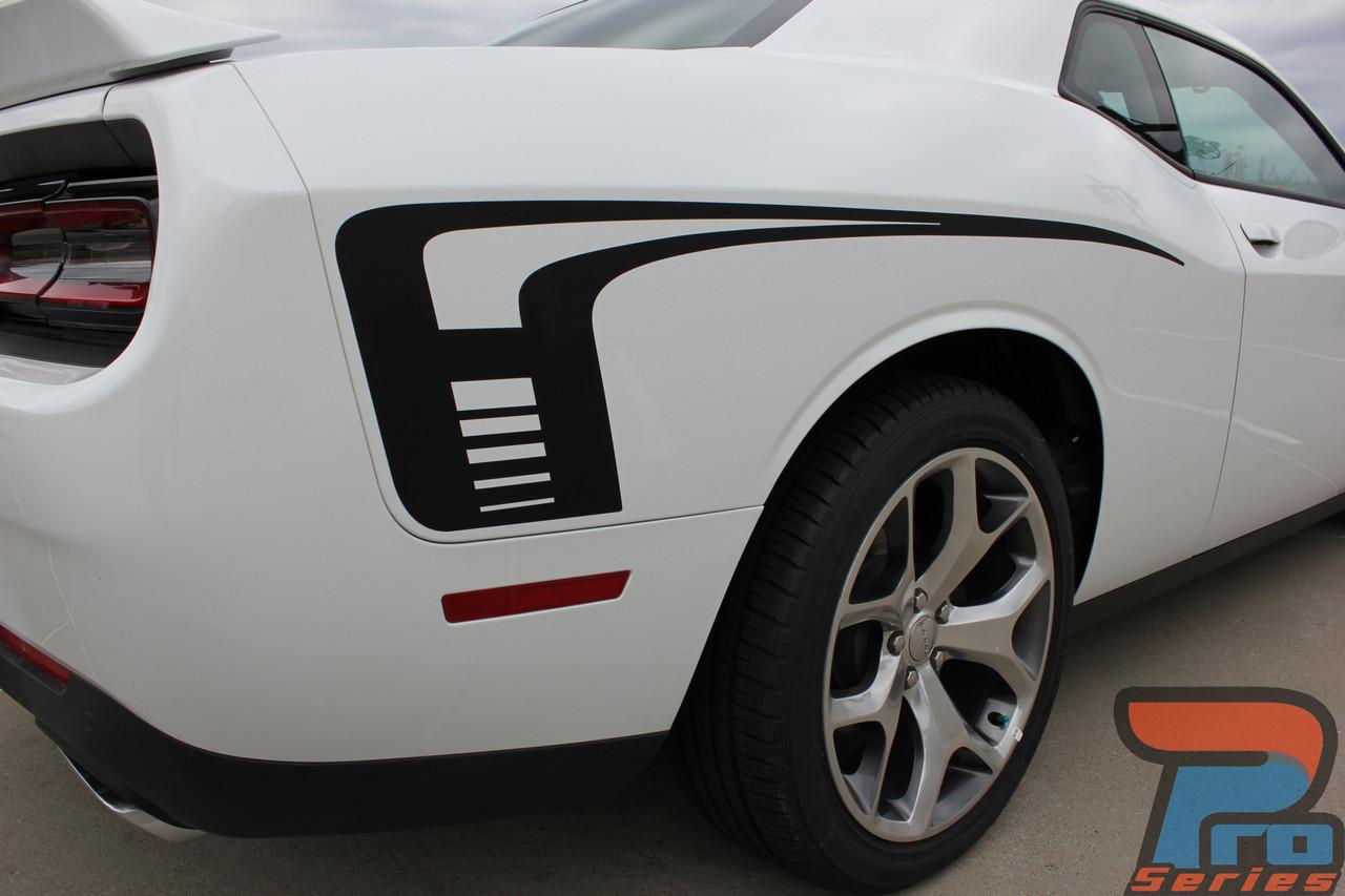 Dodge Challenger Narrow CUDA Side Strobe Stripes Decals 2008 2009 2010 Pro Motor
