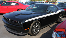 Side of Blue 2019 Dodge Challenger Side Stripes DUEL 15 2015-2020