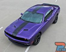 Center Racing Stripes for Dodge Challenger FINISH LINE 2011-2019