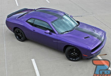 Dodge Challenger Center Racing Stripes 3M FINISH LINE 2011-2019