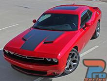 Dodge Challenger Matte Black Hood Stripes CHALLENGE HOOD 2015-2019