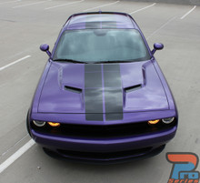 Dodge Challenger Blacktop Strobe Decals PULSE RALLY 2015-2021