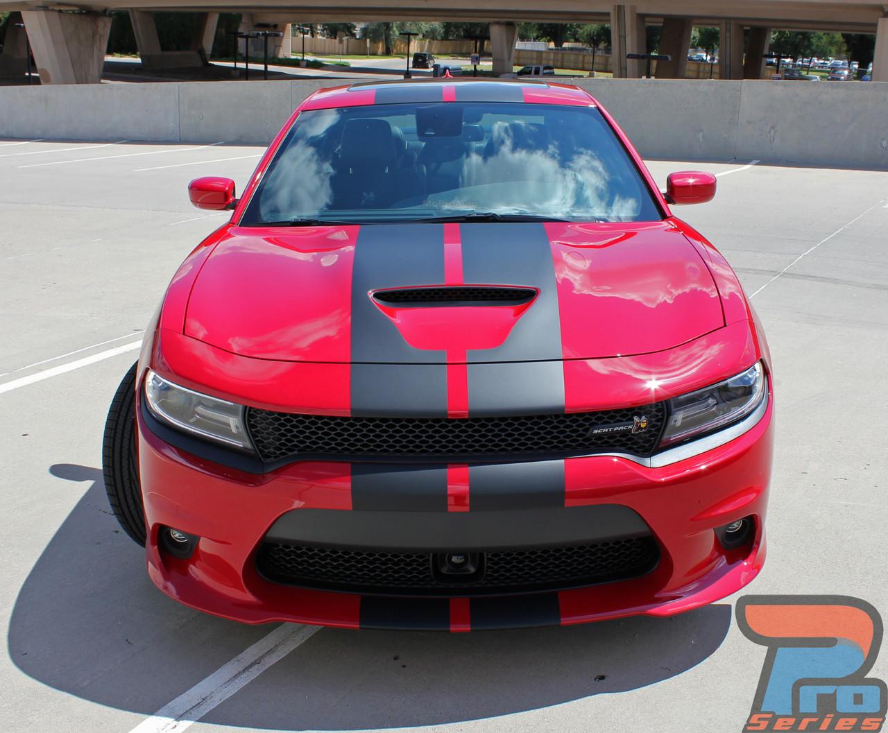 2015 2016 2017 2018 2019 Charger SRT HellCat Center Decal Stripes Graphics Kit