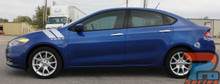 DART DOUBLE BAR : 2013 2014 2015 2016 Dodge Dart Fender Hash Stripes Vinyl Graphic Decals Stripe Kit (VGP-1942.45.46)