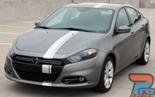 2016-2013 Dodge Dart Rally Offset Stripes DARTING E RALLY 3M