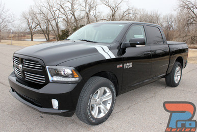 Dodge Ram 1500 Hood Stripes DOUBLE BAR 3M 2009-2016 2017 2018