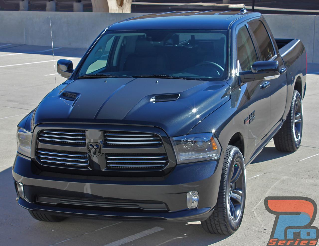 Dodge ram 1500 truck vinyl graphics decals stripes hood split accents mopar 3m 2009 2010 2011 2012 2013 204 2015 2016 2017 vgp hemi 04 81328 1550508236