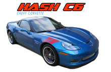 C6 DOUBLE BAR : 2005 2006 2007 2008 2009 2010 2011 2012 2013 Chevy Corvette Hash Marks Double Bar Hood and Fender Vinyl Graphics Stripes Kit (VGP-1687)