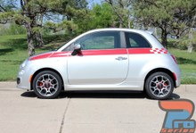 Fiat 500 Custom Side Stripe Graphics 3M SE5 CHECK 2012-2018