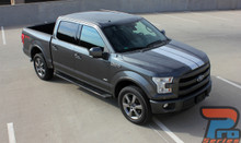 Ford F150 Truck Dual Center Racing Stripes F-RALLY 2015-2019