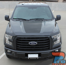 Hood Graphics for a 2017 Ford F150 ROUTE HOOD 2015-2018 2019
