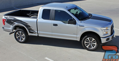 2017 Ford F150 Side Vinyl Wrap Graphics TORN 2015-2018 2019