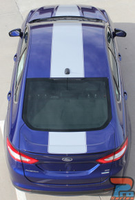 2013-2019 Ford Fusion Center Hood Wide Stripes OVERVIEW RALLY