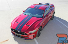 STAGE RALLY | 2018 Ford Mustang Stripes Racing Matte Black 3M