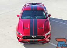 2018 Ford Mustang Convertible Lemans Stripes 3M STAGE RALLY