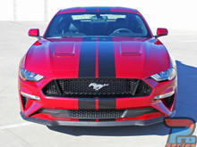 2019 2018 Ford Mustang Center Wide Racing Stripes STAGE RALLY